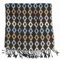 Ladie's Scarf with Beautiful Printed Design, Customized Specifications are Welcome