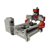 Cheap 500*1000mm Flat Cylinder CNC Carving Machine with 2 Spindles 2 Rotary Axis for sale