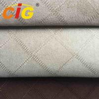 Buy cheap 100% Polyester  150cm width and 130gsm Embroidery Suede Fabric For Seat Cover from wholesalers