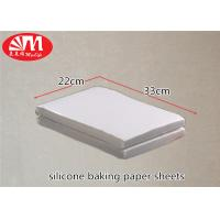 Quality Full Sheet Silicone Baking Parchment Paper , Non Stick Cooking Paper  330mm×220mm wholesale