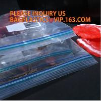 Quality Resealable LDPE Food Grade Double Zipper Seal Bag for Packing Sandwich, Gravure printing LDPE plastic double ziplock san wholesale