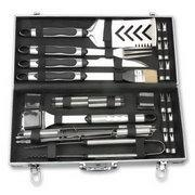 Quality BBQ Tools Set Product name: stainless steel handle with rubber foil insert 33 pcs grills tool set with aluminum case wholesale