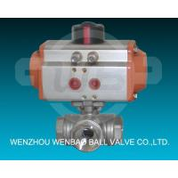 Quality Pneumatic Ball Valves  Pneumatic Three Way Ball ValveMaterial: 304 and 316. Pneumatic Three Way Ball Valve wholesale