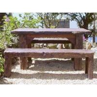 China Tripod Home Sleeper Refectory Table and Benches on sale