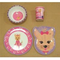 China Melamine baby dinner set on sale