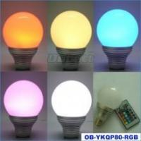 China 5W E27 High Power RGB LED Bulb With 16 Color Wireless Remote on sale
