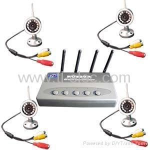 Cheap 2.4Ghz Wireless Surveillance Kit with 4 x 12Leds Cameras for sale