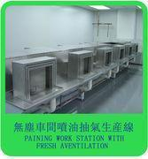 Quality painting work station with fresh ventilation wholesale