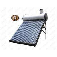 Compact pressurized solar water heater with copper coil