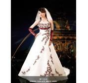 China Halter colored embroidery wedding gown on sale