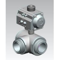 Cheap Sanitary Stainless Steel Valve Pneumatic 3 Way Ball Valve for sale
