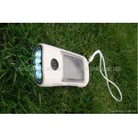 Quality Portable Solar Mobile Charger Flashlight FM Radio Solar Battery Charger Black wholesale