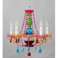 China Multi color crystal chandelier on sale