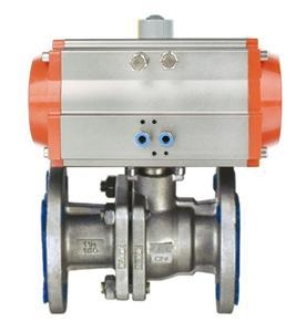 Cheap >> Products >> Pneumatic Ball Valve  >> Pneumatic Flange Type Ball Valve for sale