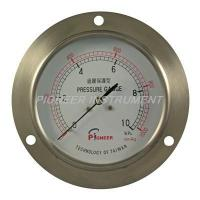 Quality 4.0 Inch Axial forward part flange pressure gauges with capsule elements wholesale