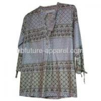 China Products List Ladies Printed Woven Blouse on sale