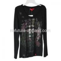 China Products List Black Knit Long Sleeve Top on sale