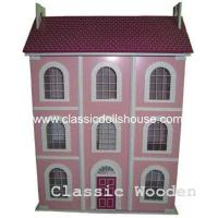 Quality 3 storied Pink Dolls House wholesale