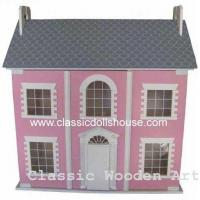 Quality Pink Children Dolls House Miniature Toys Oem wholesale