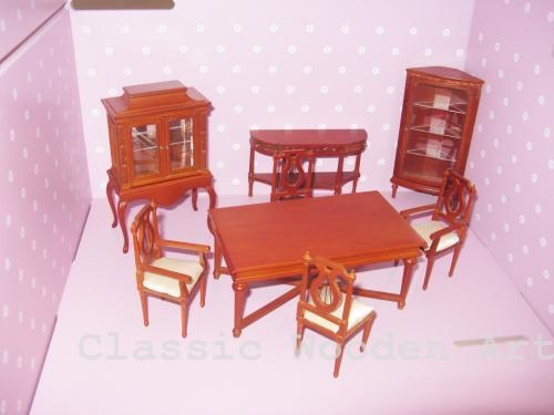 Cheap Dollhouse miniature dining Room furniture for sale
