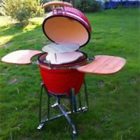 Buy cheap 18 Inch Red Shiny Ceramic BBQ Grill from wholesalers