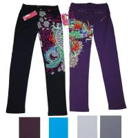 China Lady knitted pants printed on sale