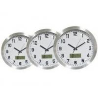 China 16'' ALUMINIUM wall clock, with WEATHER STATION on sale