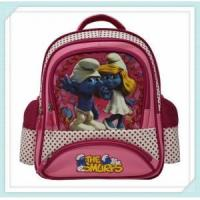 Quality silk painting carton picture of school bag for kids and child wholesale