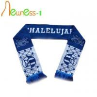 Quality Custom Football Supporter Knitted Scarves With Logo wholesale
