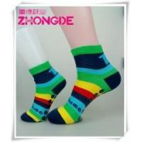 Quality Custom colorful stripes non-slip socks wholesale