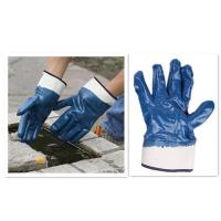 Quality cotton jersey nitrile coated safety cuff glove wholesale