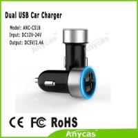 Quality Anycas brand Best gift for customer Dual USB car charger 5V 2.4A car battery charger for iphone ipad wholesale