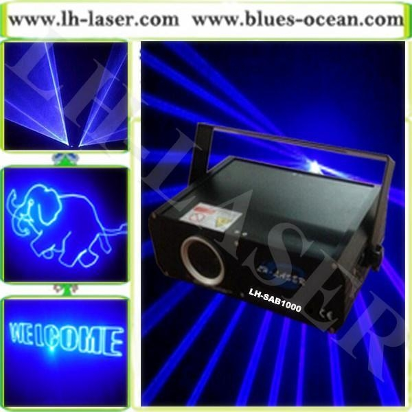 Cheap 1W Blue Color Animation disco Laser Light for ...
