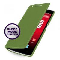 China TETDED Premium Leather Case for OnePlus One -- Dijon II (LC: Green) W/Sleep Mode Function on sale