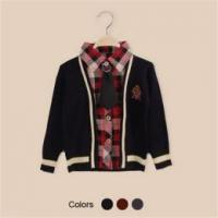 Buy cheap T-shirt collar boy long sleeve sweater cardigan from China from wholesalers