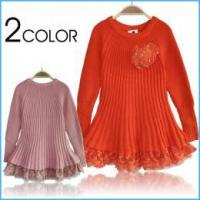 Buy cheap Girls kids lace ruffle dress children sweater dresses princess dress from wholesalers