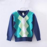 Buy cheap Boys kids argyle pullover sweater jacquard sweater from wholesalers