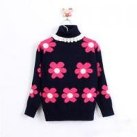Buy cheap Beautiful girls jacquard sweater kids rollneck pullover knitwear from wholesalers