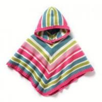 Buy cheap 2014 French kids stripe hooded shawl girl pullover poncho sweater from wholesalers