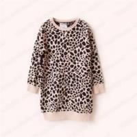 Buy cheap Girls leopard print long pullover sweater from wholesalers