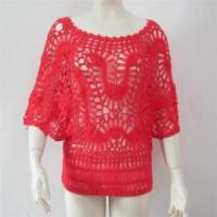 Quality Women fashion jumper hand knitted crochet sweater wholesale