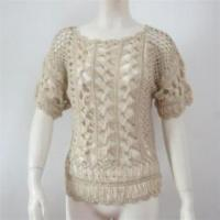 Quality Summer design women hand sweater knitting wholesale