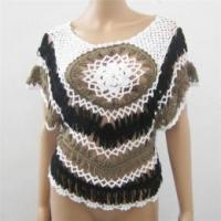Quality Lady knitted sweater handmade crochet pullover wholesale