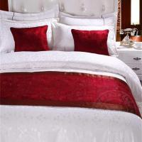 China Hot sell hotel bed runner and cushion set on sale