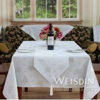 China weisdin polyester printed jacquard lace table cloth on sale