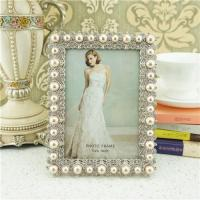 Quality Metal photo frame/elegant pearl photo frame wholesale