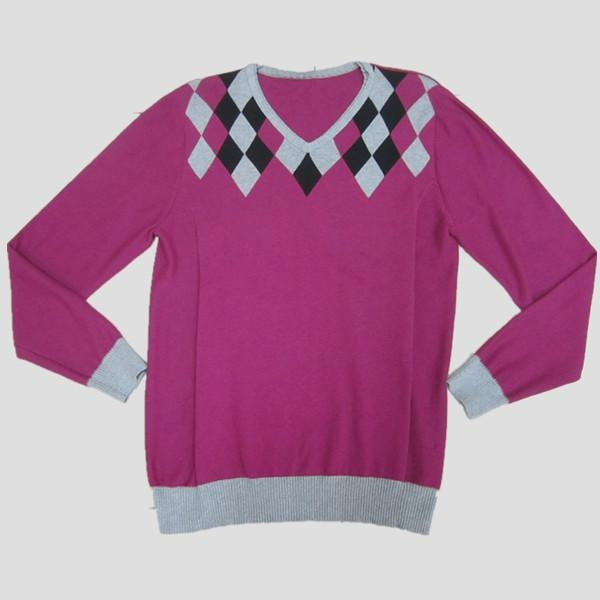 China Mens fashion sweater with double neck Y213