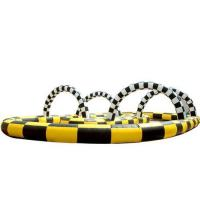 Inflatable track race, inflatable kart track ,inflatable sport games