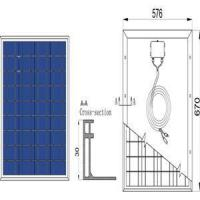 Cheap 50W 17.4V Poly Solar Panel for sale