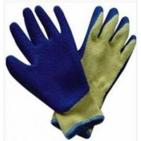 Quality 10G knitted seamless cut resistant liner with blue latex wholesale